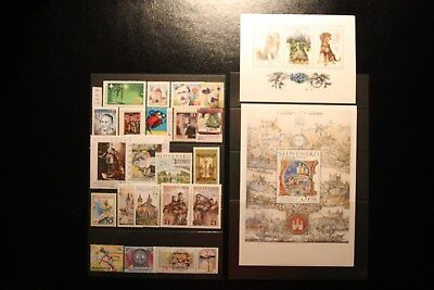 Slowakei 5:  Lot postfrischer Briefmarken mit Blocks 2007