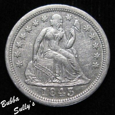 1843 Seated Liberty Dime <> EXTREMELY FINE