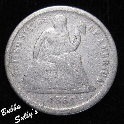 1866 S Seated Liberty Dime <> VERY GOOD