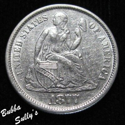 1877 S Seated Liberty Dime <> VERY FINE