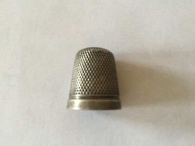 Vintage Fully Hallmarked Sterling Silver Thimble