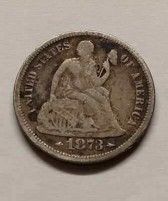 1873S seated dime