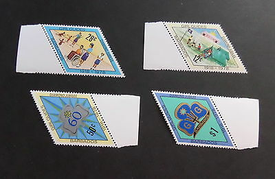 Barbados 1978 Diamond Jubilee of Guiding SG605/8 MNH UM unmounted mint guides