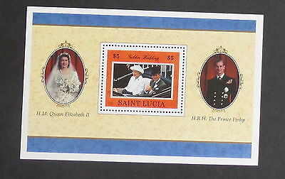 St Lucia 1997 Queen's 50th Golden Wedding Anniversary MS1166 MNH unmounted