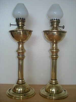 Two Antique Rare OSLER Oil Lamps