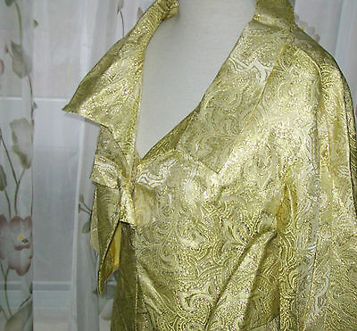 Vintage evening gown size 12 gold sleeveless gown and jacket -vogue couturier