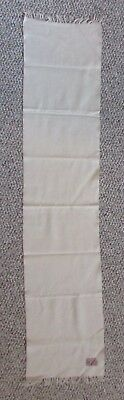 Vintage Johnstons of Elgin Scotland Cashmere Wool Scarf Cream Off White