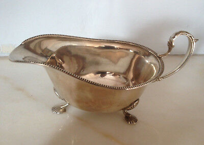 Antique Solid Silver Sauce Boat By Duncan & Scobbie-1939
