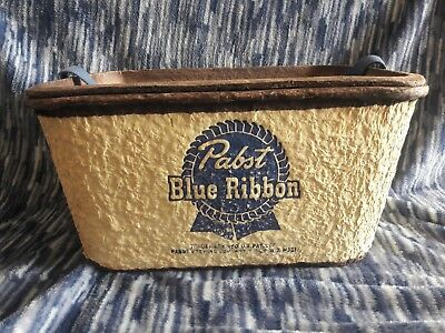 VIintage Pabst Blue Ribbon PBR Brewery Beer Mancave Cooler Fishing Tackle Box