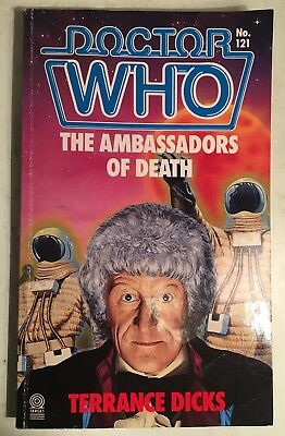 "Doctor Who ""The Ambassadors of Death"" by Terrance Dicks Target book novel"