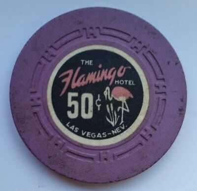 Flamingo Hotel  .50 cent  Las Vegas NV   7th issue  Casino Poker Chip !  $$$$$