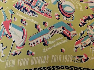 1939 New York World's Fair Souvenir Scarf