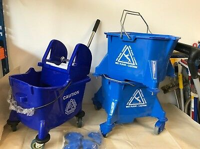 1 Mop Bucket with wringer, 2 Mop Buckets without wringer Heavy Duty 20l  New