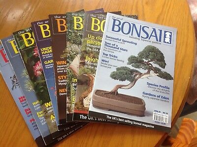 THE ART OF BONSAI Magazines, 8 copies. Free UK postage   *PRICE REDUCTION*