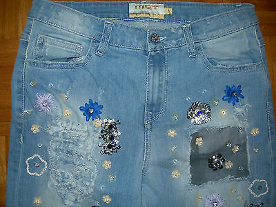 Nuovi Jeans Met Donna Con Gioie Tg. 27 - Met Jeans Size 27 -Made In Italy- Saldi