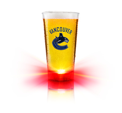 Vancouver Canucks BUDWEISER RED LIGHT GOAL SYNCED GLASS WiFi SYNC To NHL GAMES