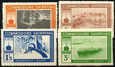 Guernsey - Sark 1960's Commodore Shipping MH Set #D67852