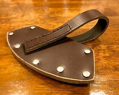 Hatchet  Tomahawk Cover Sheath Australian Made 4mm Thick Leather Black/ Brown