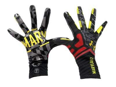 NEW Under Armour Highlight Pride Maryland Football Gloves Various Sizes 1240110