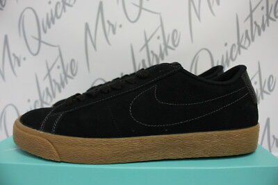 new products eed96 7d99b Nike Sb Blazer Low Sz 11.5 Skate Black Anthracite Gum Brown 864347 002