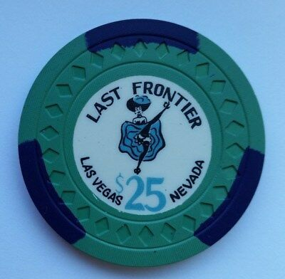 """LAST FRONTIER $25 Las Vegas 7thissue""""Can Can Girl"""" Casino Poker Chip !"""