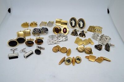 Lot of NINETEN PAIRS of VINTAGE CUFFLINKS great collection mens accessories #P72