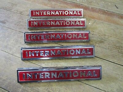 5~~New Old Stock 60's IH International Red Emblem 11810-1 2754222-R1 Truck Scout