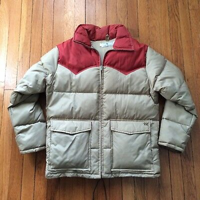 Vintage 70's Ski Daddle Pack-In Products GOOSE DOWN Western Jacket Size Medium