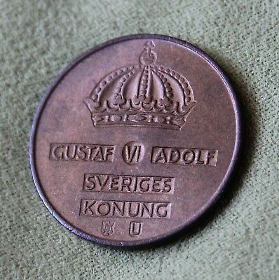 1965 Sweden 5 Ore Average Circulated Condition Scarce & Highly Collectible