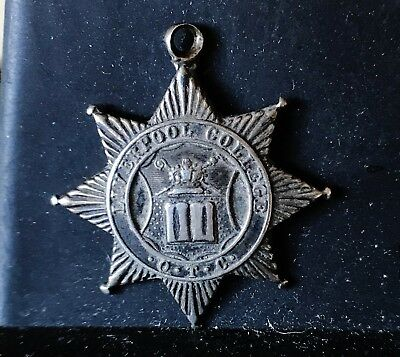 Solid silver Liverpool College Officer Training Corps pendant 1919