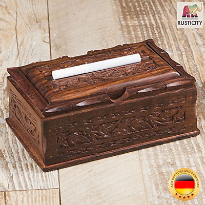 rusticity Holz Zigarette Fall Magic Box | handgefertigt | (6,5 x 4 in)