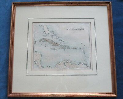 Antique Map Chambers West India Islands c.1887