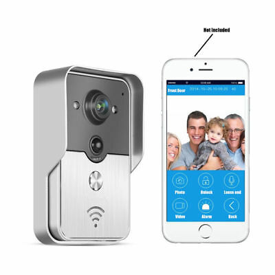 Wifi/POE Wireless Smart Video Doorbell 125 Degree Wide-angle Lens