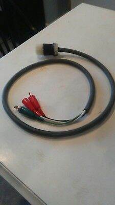 New 6ft. 10/3 220V cable lead with a Hubbell 2623 30A 250V insulated connector