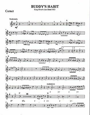 BUDDY\'S HABIT DIXIELAND Jazz Combo Arrangement Sheet Music - $5.00 ...