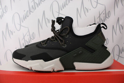 314d1dbad2d87 NIKE AIR HUARACHE Drift Sz 9 Sequoia Black White Light Bone Ah7334 ...