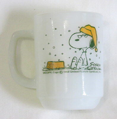 Snoopy coffee mug cup I Hate It When It Snows on my French Toast! USA Fire King