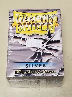 Dragonshield Protective Card Sleeves 100 Sleeves per Box Silver