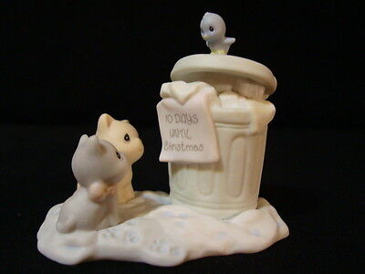 Precious Moments Sugar Town Garbage Can Christmas Collectable