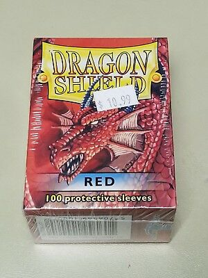 Dragonshield Protective Card Sleeves 100 Sleeves per Box Red
