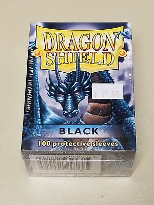 Dragonshield Protective Card Sleeves 100 Sleeves per Box Black
