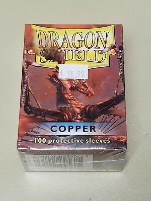 Dragonshield Protective Card Sleeves 100 Sleeves per Box Copper