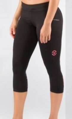 VIRUS compression women, ECO24  Power Tech Crop Pant, black, XS Capri