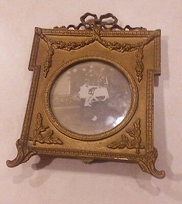 Antique French Style Bronze or Brass Picture Frame