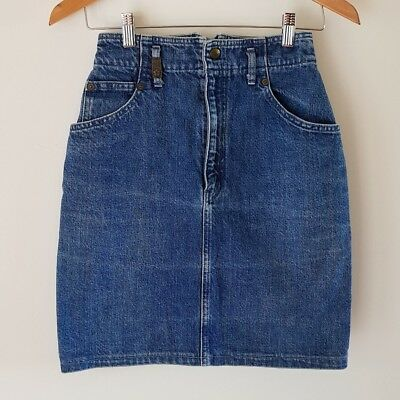 Original Vintage Denim KENZO Pencil Skirt. Size XS