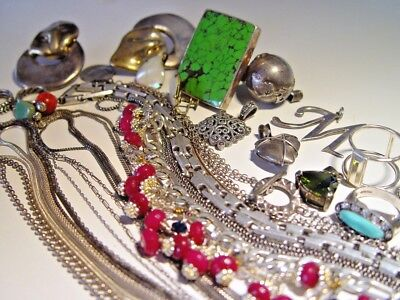 Lot Of Sterling Silver Jewelry Very Nice Lot!