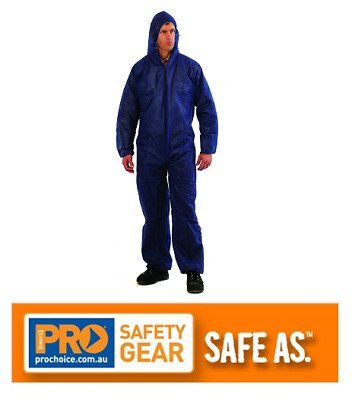 3Pack/5Pack/10Pack Disposable Overalls Blue Coveralls Polypropylene Lightweight