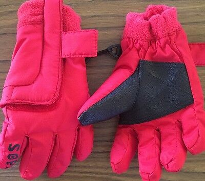 KAOS Size 3 Unisex Red Children's Thick Snow Gloves