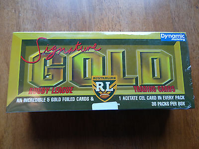 ✦ 1996 Rugby League Dynamic ARL NRL Signature Gold Sealed Trading Card Box ✦
