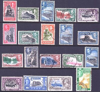CEYLON - TWO PAGES - MIXED ITEMS FROM 1903 to 1964 - VALUE - WORTH A LOOK
